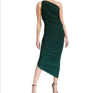 norma kamali one shoulder dress